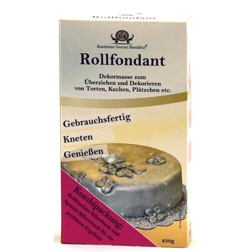 Rollfondant Gold und Silber